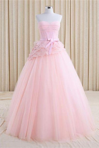2017 Homecoming Dress Floor-Length Sash/Ribbon/Belt A-line Sleeveless Zipper Tulle Sweetheart For Homecoming Discount Dresses