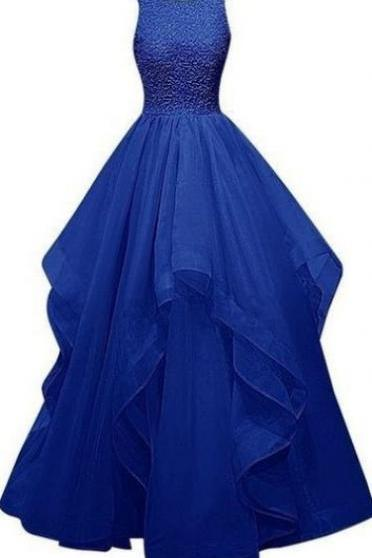New Style Royal Blue Charming Long Burgundy Prom Dresses,Ball Gown Beading Prom Gowns,Sparkly Prom Dress For Girls